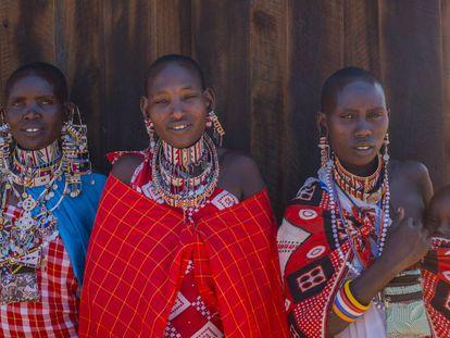 Mujeres masái en Kenia.