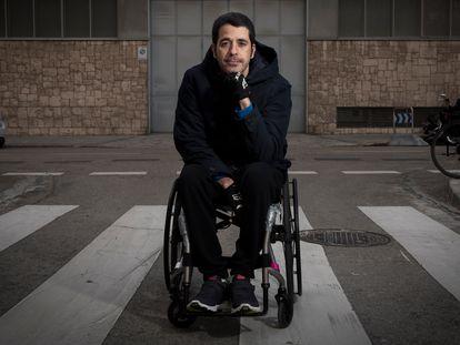 Alberto Aláiz, exjugador de rugby que se quedo tetrapléjico durante un partido.