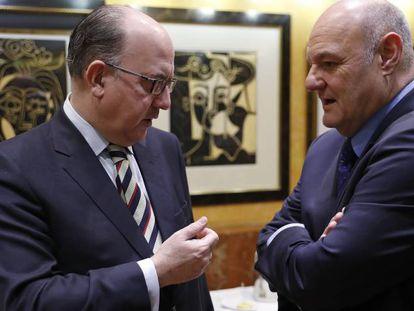 José maría Roldan, presidente de la AEB y José María Méndez, director general de CECA