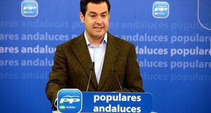 El presidente del PP andaluz, Juan Manuel Moreno.