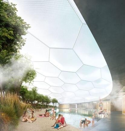 Los baños sauna, una zona que pretende incluir el proyecto del arquitecto italiano.