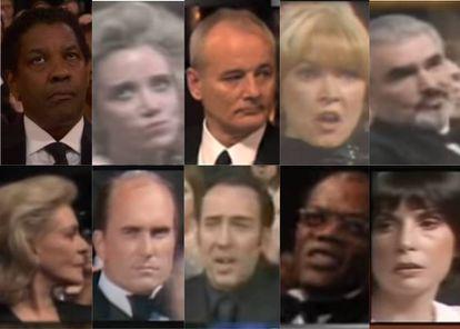 Una milésima de segundo que muestra una tormenta interna: así fueron las caras que pusieron todas estas estrellas nominadas tras escuchar que se abría el sobre en los Oscar y decían el nombre de otro.