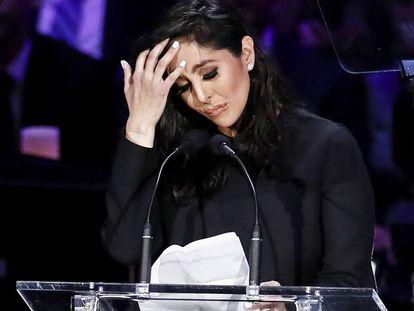 Vanessa Bryant, en el discurso que dio en el Staples Center de Los Ángeles en memoria de Kobe Bryant en febrero de 2020.