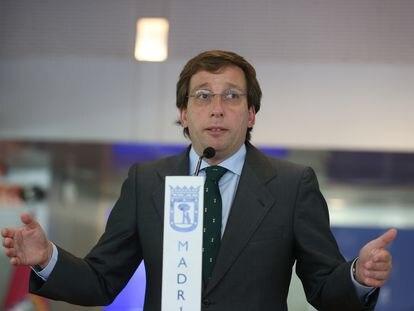 José Luis Martínez-Almeida, durante su comparecencia ante los medios tras la presentación del plan.
