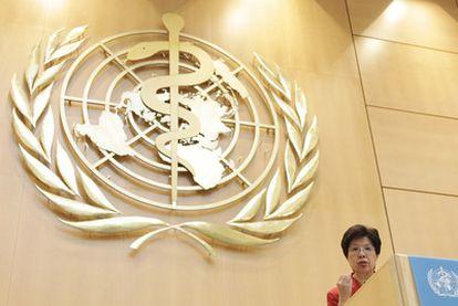La responsable de la OMS, Margaret Chan, durante la asamblea general del organismo en mayo en Ginebra.