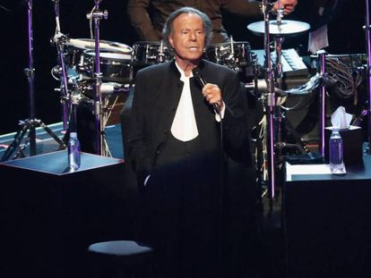 Julio Iglesias, en un concierto en México, el pasado abril.