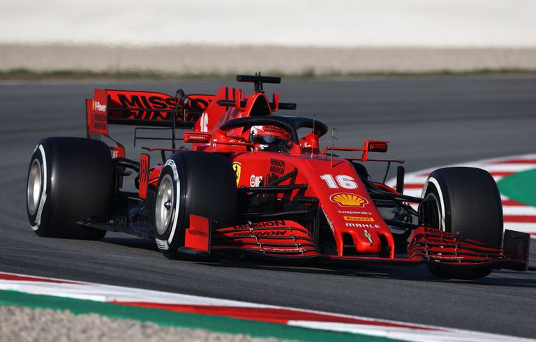 Leclerc, en Montmeló.   20/02/2020 ONLY FOR USE IN SPAIN