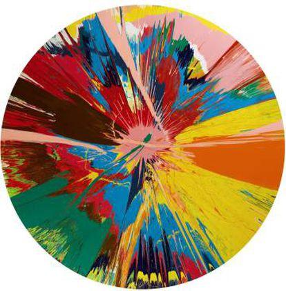 Obra de Damien Hirst perteneciente a la colección de Bowie y valorada en 300.000 euros.