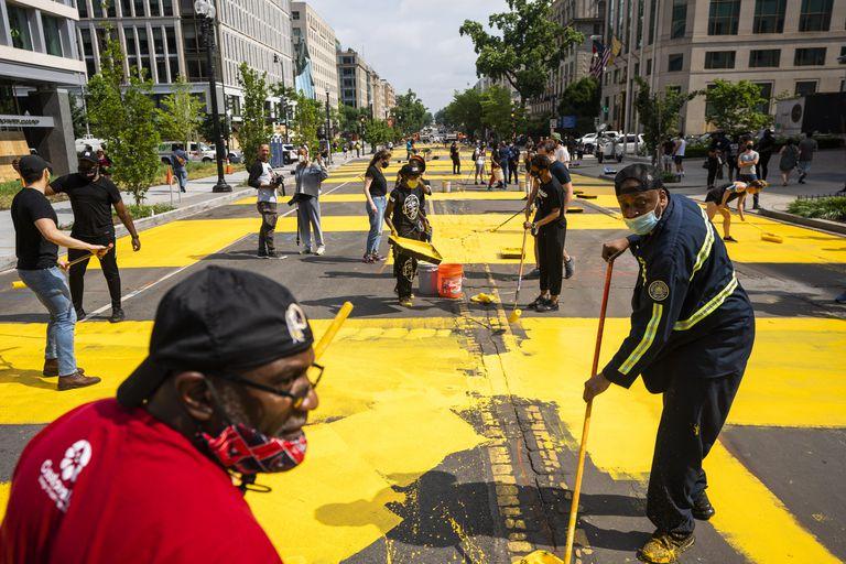 Washington rebautiza con el lema Black Lives Matter la calle que ...