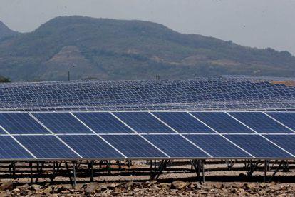 El parque solar inaugurado en La Llave, del municipio hondureño de Nacaome.