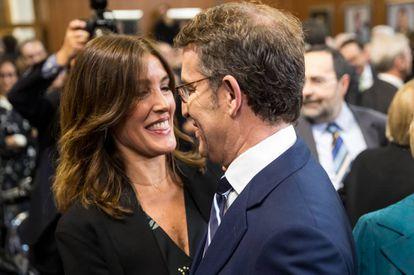 Eva Cárdenas, con Núñez Feijóo, en septiembre de 2019.