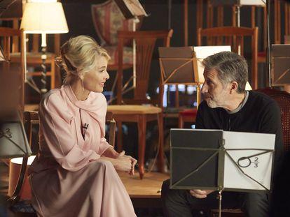 Belén Rueda y Emilio Aragón, en el programa 'B.S.O.'.