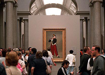 Vista interior del Museo del Prado, donde se expone la muestra 'Manet'.