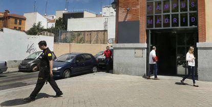 Una de las sedes de Google en Madrid durante el registro de Hacienda en junio de 2016