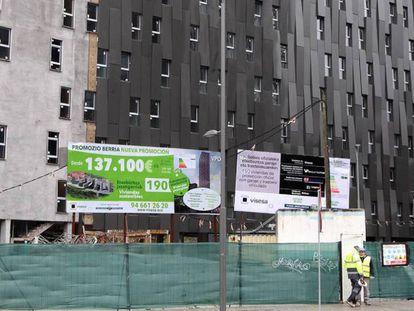Promoción de viviendas protegidas en Bilbao.