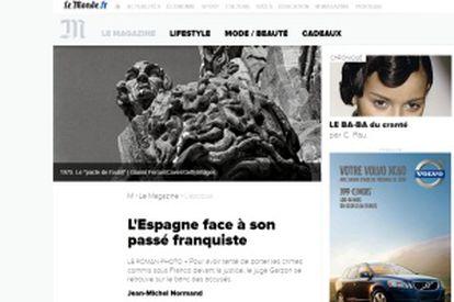 Edición online de Le Monde.