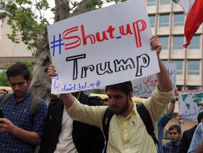 Protesta contra Estados Unidos en Teherán el 9 de mayo.