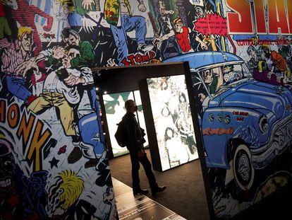 """La exposición """"La contracultura i Underground a la Catalunya dels 70""""."""