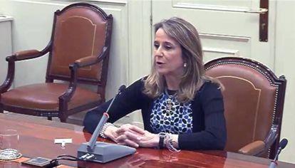 La juez Carmen Lamela, en una imagen de un video del 9 de mayo de 2017.