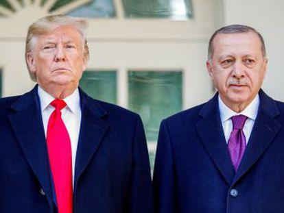 El presidente de Turquía visita la Casa Blanca en un momento bajo en las relaciones de su país con Estados Unidos