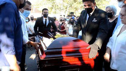 Funeral de Abel Murrieta, candidato del Movimiento Ciudadano a la presidencia municipal de Cajeme, el 14 de mayo.