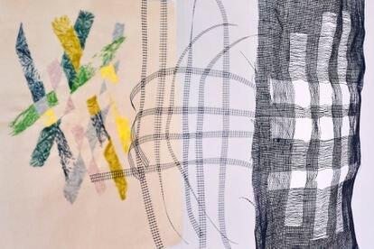 Obra de la diseñadora Hella Jongerius que forma parte de la exposición Kosmos weben (Tejiendo el cosmos), abierta en Berlín hasta el 15 de agosto.