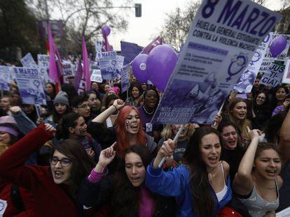 Manifestación del 8-M este año en Madrid.