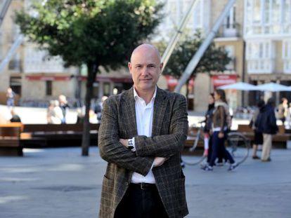 El ararteko, Iñigo Lamarca, posa el pasado miércoles en Vitoria.