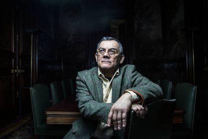 Horacio Castellanos Moya, la pasada semana en Casa América en Madrid.