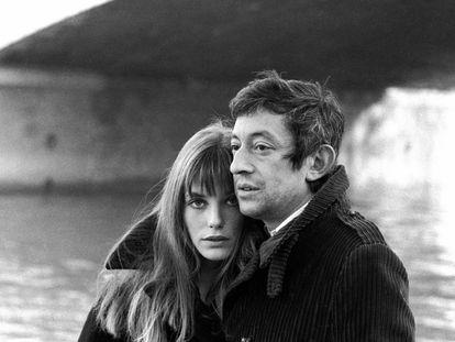 El cantante Serge Gainsbourg y Jane Birkin, pareja durante una década.