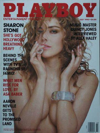 Con esta portada del número de 'Playboy' de julio de 1990, Sharon Stone decidió venderse a sí misma como una 'sex symbol'.