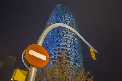 La torre Agbar, este jueves.