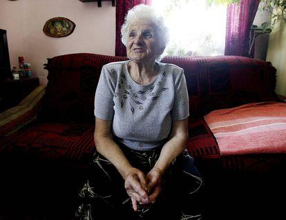 Henryka Jablonska, superviviente del ataque nazi a Chlaniow, donde mataron a su padre.