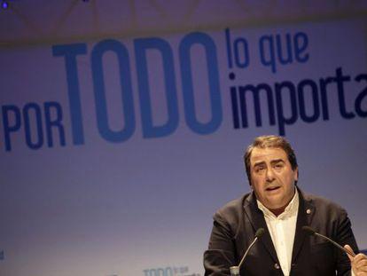 Carlos Negreira, alcalde de A Coruña (PP), presenta su candidatura el pasado 23 de abril.