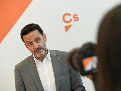 El vicesecretario general de Ciudadanos, Edmundo Bal, este domingo.