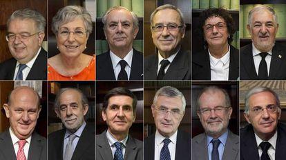 Los rostros de los nuevos componentes del Tribunal Constitucional.