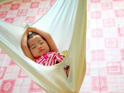 Un recién nacido en Malasia.