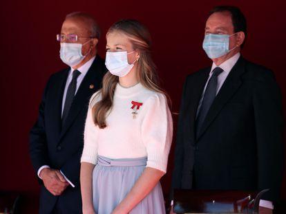 La princesa Leonor durante el acto del 12 de octubre en el Palacio Real de Madrid.