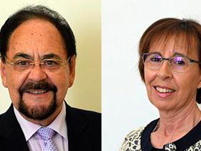 Ángel Guerra (PP) y Carmen Miravalles (PSOE).