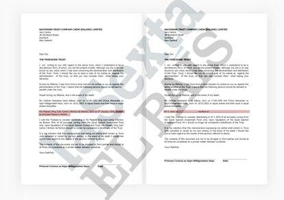 Documentos de Peregrine Trust.  EL PAÍS / LA SEXTA / AQUÍ