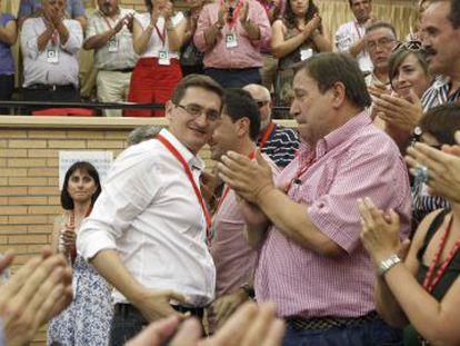 El líder del PSOE en Almería, José Luis Sánchez Teruel, en un acto en 2011.
