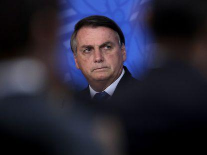 Jair Bolsonaro durante un acto oficial en el palacio de Planalto, en Brasilia, el pasado miércoles.