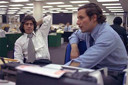 Bernstein (izquierda) y Woodward en la época del escándalo Watergate.