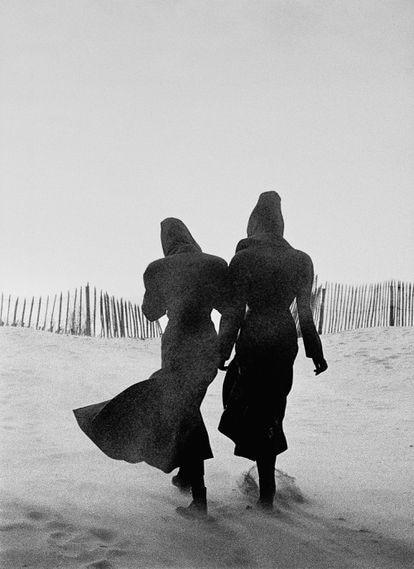 Tatjana Patitz y Linda Spierings, en Le Touquet en 1986.