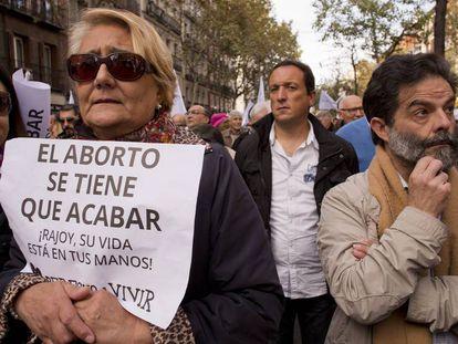 Manifestación en Madrid contra el aborto en 2014.
