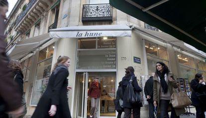 Librería Le Hune, en París, cerrada el pasado lunes.