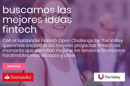 Cartel promocional del Fintech Open Challenge