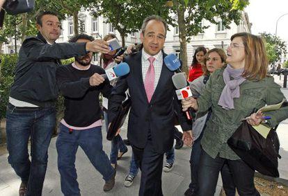 Arturo González Panero, ex alcalde de Boadilla del Monte (Madrid), a su llegada al Tribunal Superior de Justicia de Madrid.