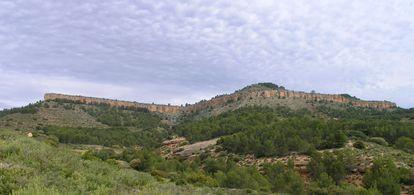 Vista del yacimiento celtibérico de la Muela de Peñalba, en Villastar (Teruel).