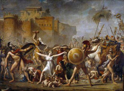 'El rapto de las sabinas' (1799) de Jacques Louis David